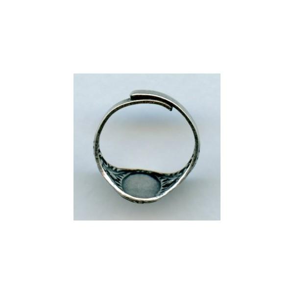 Adjustable Finger Ring Oak Leaves Oxidized Silver 1