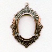 Art Deco Inspired 25x18mm Setting Oxidized Copper
