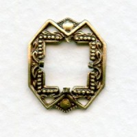 Square Settings 8mm Oxidized Brass (2)