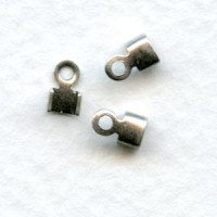 End Clamps for 2mm Cord Nickel Plated (12)
