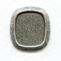 ^Cushion Antique Settings 16x14mm Oxidized Silver (12)