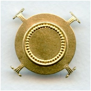 Turtle Style Settings for 30mm Stones Raw Brass (6)