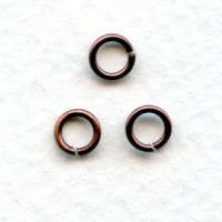 Round Jump Rings 5mm Oxidized Copper