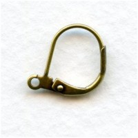 Lever Back Earring Findings with Loop Oxidized Brass (24)