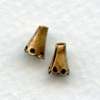 Cone Shaped Plain Bead Caps 5mm Oxidized Brass (24)