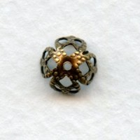 Filigree Bead Caps Oxidized Brass 7mm (12)