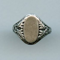 Adjustable Finger Ring Oak Leaves Oxidized Silver (1)