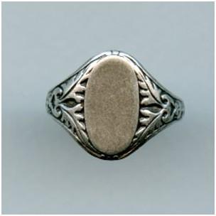 Adjustable Finger Ring Oak Leaves Oxidized Silver (1)