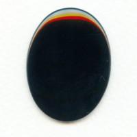 Black Onyx Cabochon Oval Buff-Top 40x30mm (1)