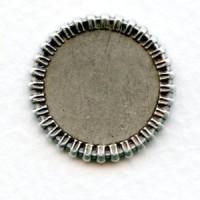 ^Basket Edge Setting Bases 12mm Oxidized Silver