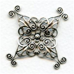 Filigree Wrap 35mm Oxidized Silver (1)