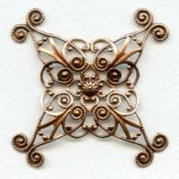 Ornate 48mm Filigree Oxidized Copper (1)