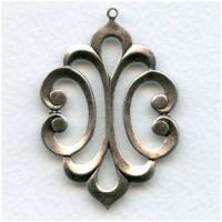 Awesome Pendant Oxidized Silver 51mm (1)