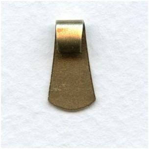 Folded Bail Findings Oxidized Brass 11mm (12)