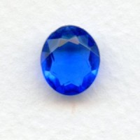 Sapphire Glass Oval Unfoiled Jewelry Stones 12x10mm