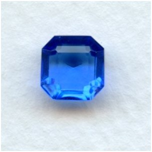 Sapphire Glass Square Octagon Jewelry Stones 8x8mm