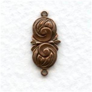 Swirl Detail Connectors Oxidized Copper (12)