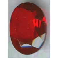 ^Ruby Glass Oval Unfoiled Jewelry Stones 12x10mm