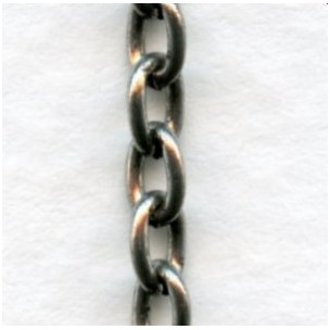 Smooth Oval 4x3mm Link Cable Chain Oxidized Silver (3ft)