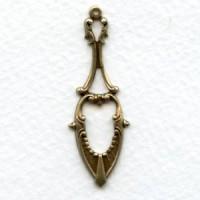 Delicate Details 42mm Pendant Drops Oxidized Brass (6)