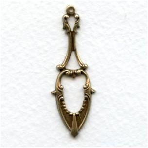 Delicate Details 42mm Pendant Drops Oxidized Brass (12)