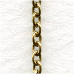 Smooth 3mm Oval Link Cable Chain Antique Gold (3 ft)