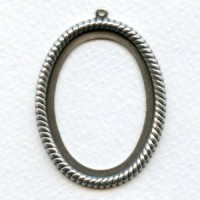 Rope Edged 40x30mm Settings 40x30mm Oxidized Silver (3)