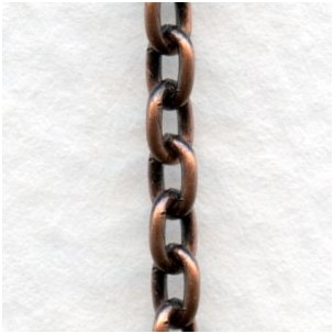 Smooth Oval 4x3mm Link Cable Chain Oxidized Copper (3 Ft)