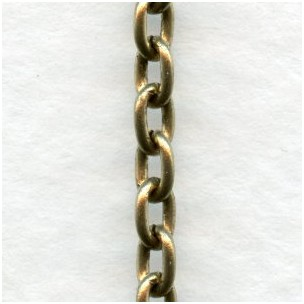 Smooth Oval 4x3mm Link Cable Chain Antique Gold (3 ft)