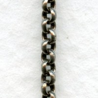 Tiny Rolo Chain Smooth 2mm Links Antique Silver (3 ft)