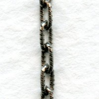 Dainty Cable Chain 4x2mm Links Antique Silver (3 ft)