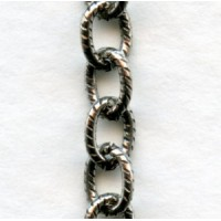 Textured Cable Chain Antique Silver The BEST! (3 ft)