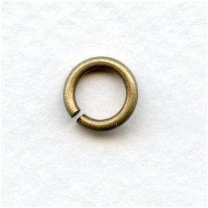 Heavy Duty Oxidized Brass Jump Rings 8.5mm Round (24)