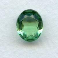 Perdiot Glass Oval Unfoiled Stones 12x10mm