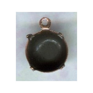 ^Round Setting Pendant 47ss Oxidized Copper