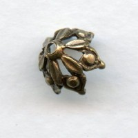 Elegant Gothic Style Bead Caps Oxidized Brass 8mm (12)