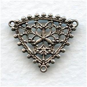 Filigree Pendant Connectors Oxidized Silver 20mm (6)