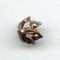 Elegant Gothic Style Bead Caps 8mm Oxidized Copper (12)