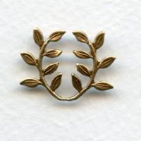 Leaf Spray Embellishment Oxidized Brass Stamping