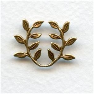 Leaf Spray Embellishment Oxidized Brass Stamping (12)