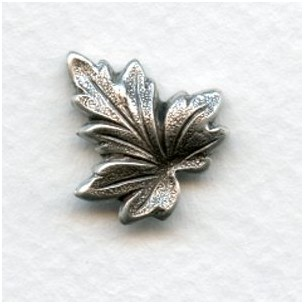 Leaves with Great Texture 18mm Oxidized Silver (6)