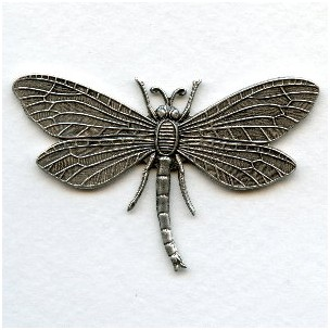 Dragonfly in Awesome Detail Oxidized Silver (1)