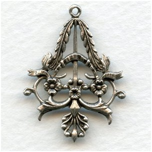 The MOST Elegant Pendant Drop Oxidized Silver (6)