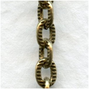 Small Cable Chain 4.5mm Links Antique Gold (3 ft)