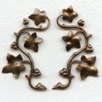 Vines with Berries Oxidized Copper 57mm (1 set)