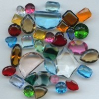 Collection of Vintage Glass Stones From Early 1900