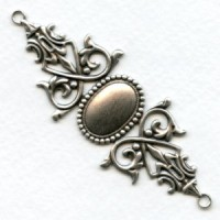 Gothic Bracelet Connector Base Oxidized Silver (1)