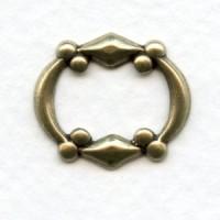 ^Bead Detail Oval Frame Oxidized Brass 21mm (12)