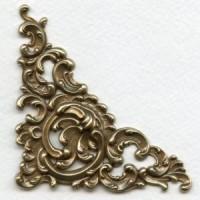 Fabulous Corner Detail Oxidized Brass 92mm (1)