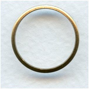 Simple Circle Connectors or Eyelets 21mm Oxidized Brass (12)